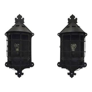 1920's Lantern Sconces - a Pair