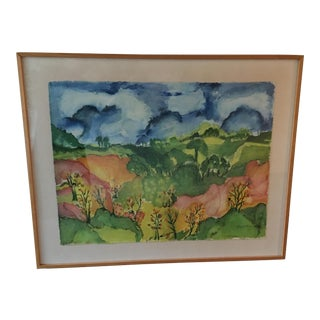 Sylvia T. Gavurin Framed Watercolor Painting