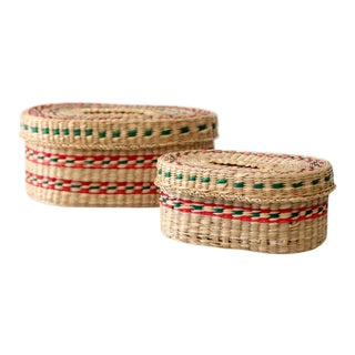 Vintage Sweetgrass Baskets - a Pair