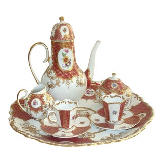 Kpm Porcelain Tea Service Set - Set of 8