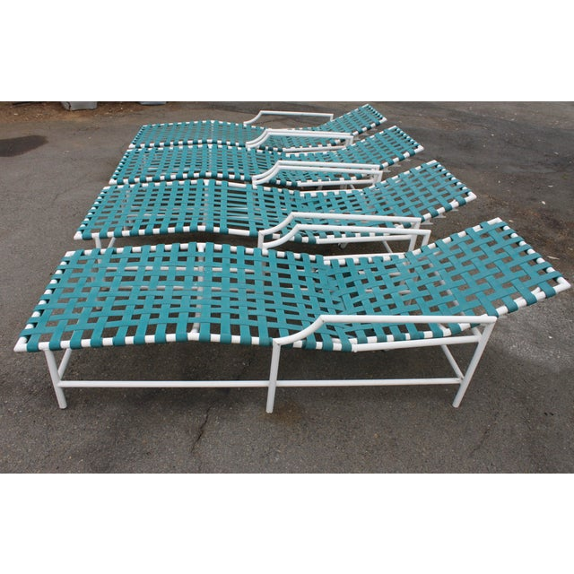 Mid-Century Tropitone 'Cantina' Reclining Patio Lounges - Set of 4 - Image 5 of 11