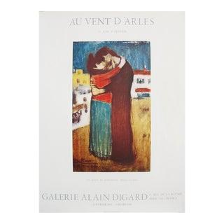 1982 Pablo Picasso Exhibition Poster, Au Vent d'Arles