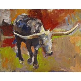 Longhorn Oil Painting