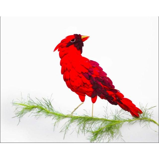 """Red Hongyi """"Cardinal"""" Print - Image 2 of 3"""