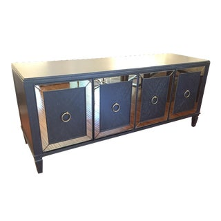 Mitchell Gold Ebony Cerused Oak Media Cabinet