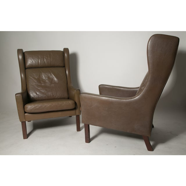 Image of Borge Mogensen Wingback Chairs - Set of Two