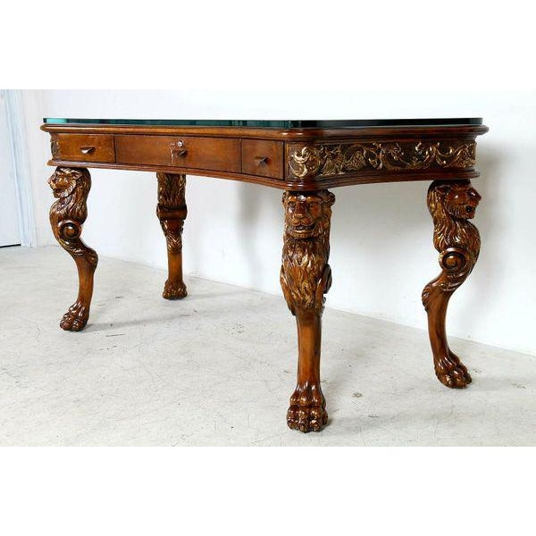 Medieval English Carved Wood Desk - Image 3 of 7