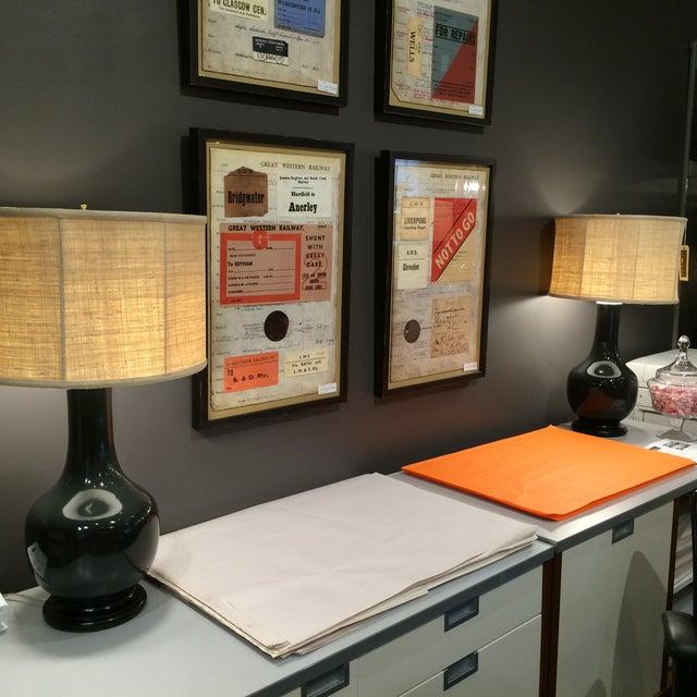 Image of Barbara Cosgrove Gray Table Lamps - A Pair