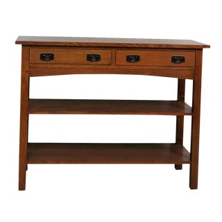 Stickley Oak Console Table