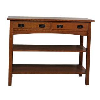 Stickley Oak Console Table