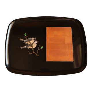 Couroc of Monterrey Chickadee Cheese Tray