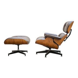 1976 Vintage Herman Miller Eames Lounge Chair & Ottoman