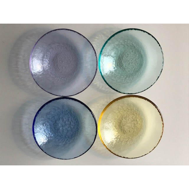 Multi-Colored Textured Glass Dishes - Set of 4 - Image 2 of 4