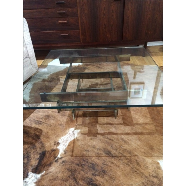 Paul Mayen Brass Stacked Coffee Table - Image 8 of 9
