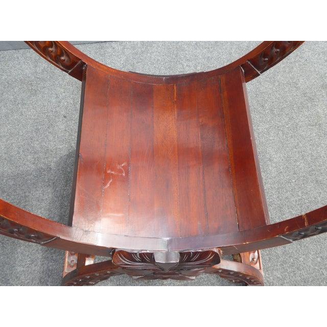 Vintage Asian Style Savonarola Chair - Image 7 of 11