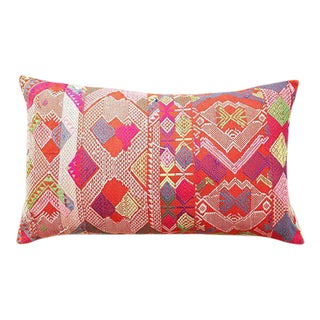 Hmong Tribal Embroiderered Pillow