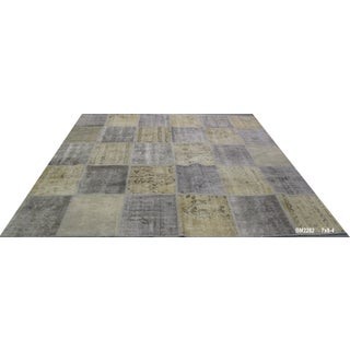 Vintage Turkish Patchwork Rug - 7′ × 8′4″