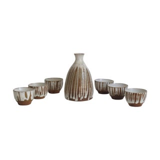 Terracotta Sake Set- 7 Pieces