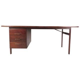 Mid-Century Modern American Walnut Writing Desk