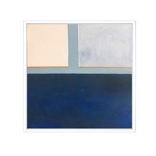 Blue Color Block Framed Print