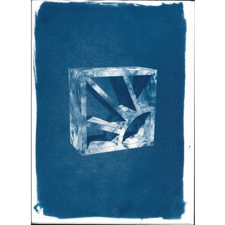 Cyanotype Print -  3D Screen Block