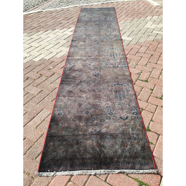 Overdyed Turkish Runner Rug - 2′8″ × 12′8″ - Image 2 of 9