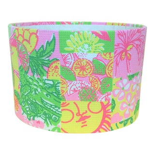 Lilly Pulitzer Patchwork Fabric Oval Stationary Holder