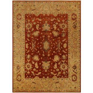 Kafkaz Peshawar Darby Red/Tan Wool Rug - 9'0 X 11'8