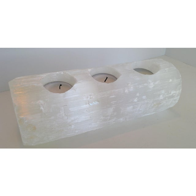 Selenite Branch Tealight Candle Holder - Image 6 of 8