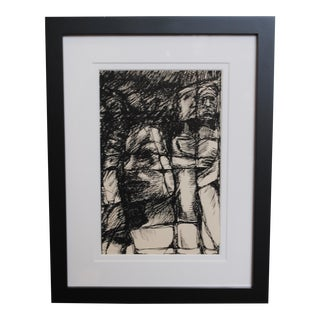 1960s Expressionist Drawing, III