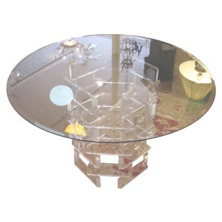 Stacked Brick Lucite Dinette Table