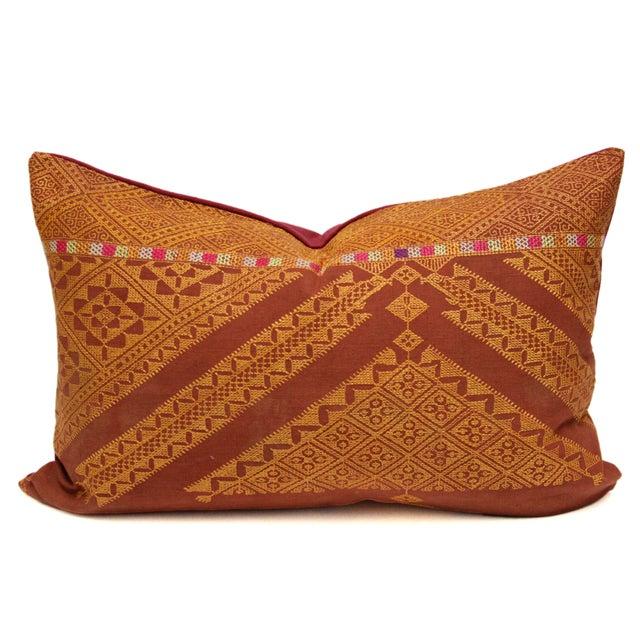 Stately Bagh Phulkari Lumbar Pillow - Image 1 of 3