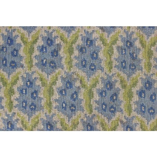 Stark Green & Blue Pinecone Needlepoint Rug - Image 3 of 3