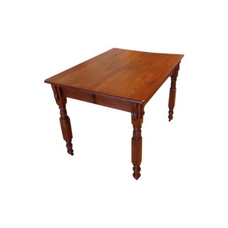 Antique 1900s Solid Wood Dining Table