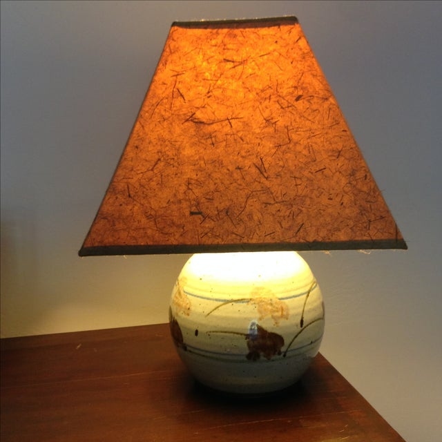 Mid-Century Modern Ceramic Lamp - Image 5 of 8