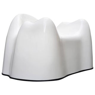 Wendell Castle White Fiberglass Molar Chair