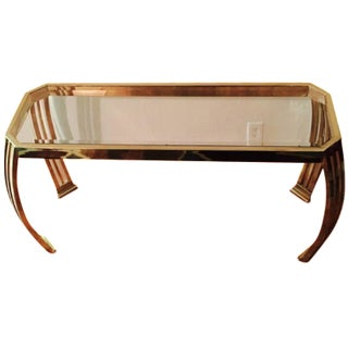 Karl Springer Brass & Glass Console