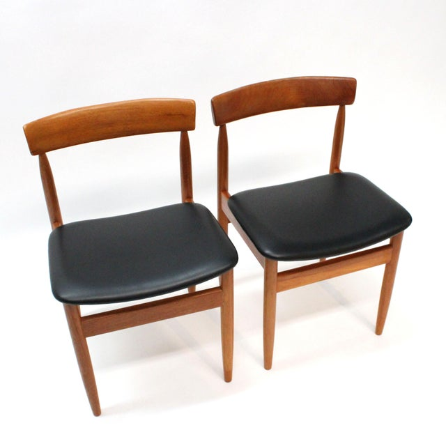 1977 Mid-Century Danish Style Teak Chairs - A Pair - Image 3 of 6
