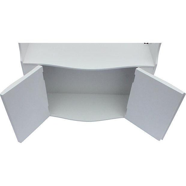 Image of Vintage Lacquered Shelf With Doors