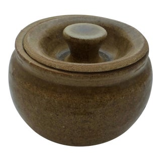 Mid-Century Studio Pottery Covered Jar