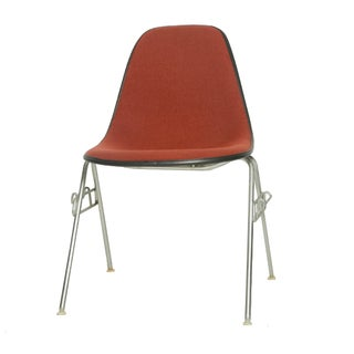 Eames Brick Red Fiberglass Shell Chairs - Set of 6