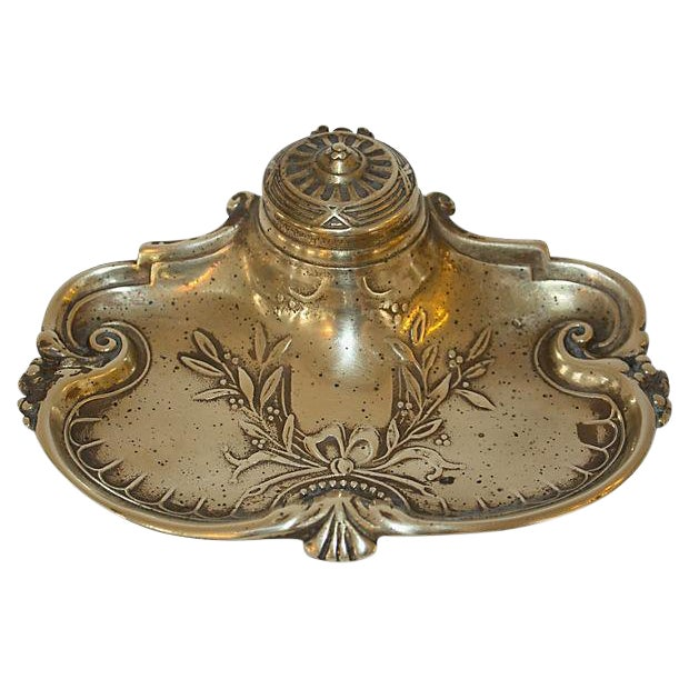 Image of Victorian Brass Inkwell