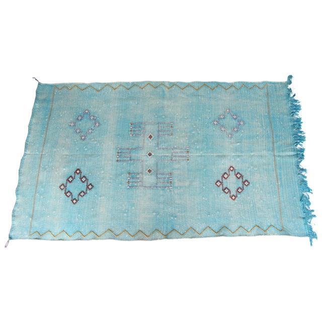 Moroccan Cactus Silk Carpet - 2′11″ × 4′11″ - Image 1 of 6