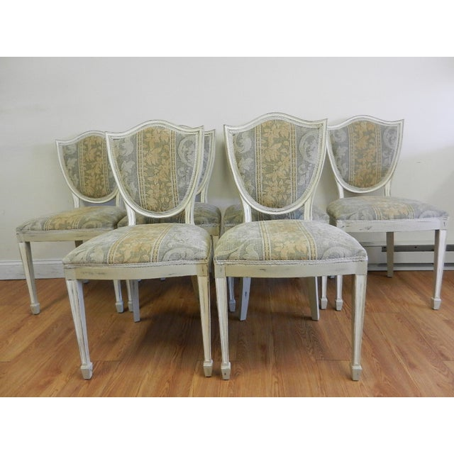 Shield Back Dining Chairs - Set of 6 - Image 2 of 8