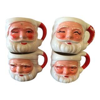 Vintage Santa Mugs - Set of 4