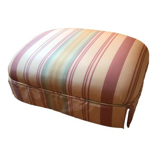 Small Silk Covered Footstool