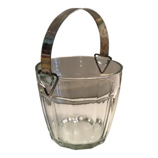 Glass & Silverplate Ice Bucket