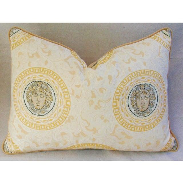 Designer Italian Versace-Style Medusa Pillow - Image 2 of 5