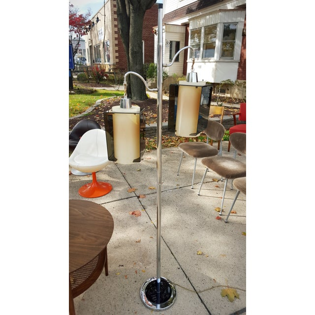 Chrome Pole With Hanging Lantern Floor - Image 2 of 9
