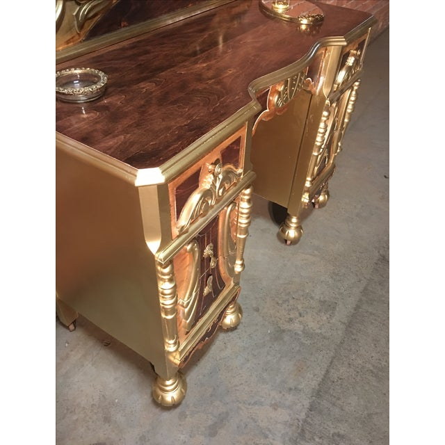 1920s Art Deco Vanity Table with Seat - Image 3 of 10